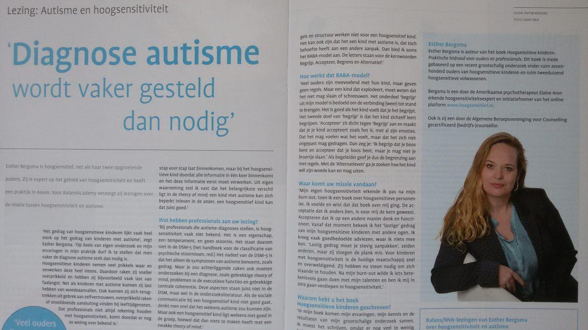 Interview Autisme Magazine