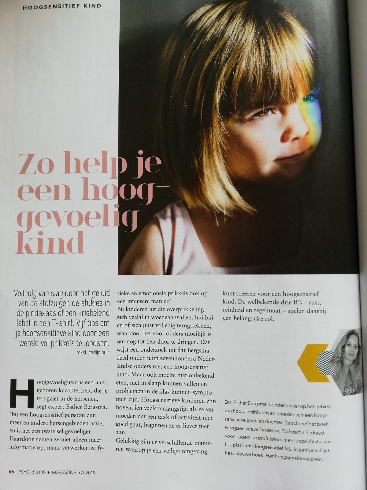 Psychologie Magazine Het hoogsensitieve kind
